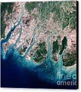 Irrawaddy River Delta Canvas Print by Nasa