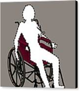 Isolation Through Disability, Artwork Canvas Print by Stephen Wood