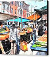 Italian Market Canvas Print by Andrew Dinh