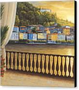 Italian View Canvas Print by Diane Romanello