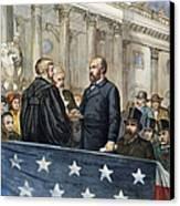 J. A. Garfield: Inauguration Canvas Print by Granger