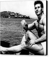 Jack Lalanne Before Handcuffed Swim Canvas Print