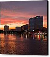 Jacksonville Skyline Night Canvas Print