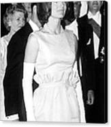Jacqueline Kennedy At A Dinner To Honor Canvas Print