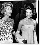 Jacqueline Kennedy With The Wife Canvas Print by Everett