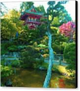 Japanese Tea Garden Temple Canvas Print