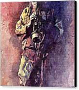 Jazz Miles Davis Maditation Canvas Print