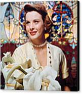 Jean Peters, 1950s Portrait Canvas Print by Everett