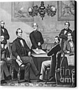 Jefferson Davis, Cabinet Canvas Print by Photo Researchers