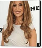 Jennifer Lopez Wearing A Gucci Dress Canvas Print by Everett