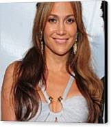 Jennifer Lopez Wearing An Emilio Pucci Canvas Print