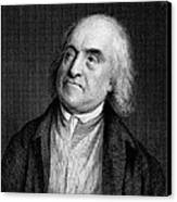 Jeremy Bentham, English Social Reformer Canvas Print by Middle Temple Library