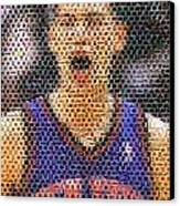Jeremy Lin Mosaic Canvas Print by Paul Van Scott