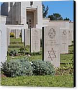 Jerusalem British War Cemetery Canvas Print by Noam Armonn