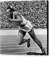 Jesse Owens (1913-1980) Canvas Print by Granger