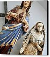 Jesus Christ And Saint Statues In Church Canvas Print