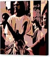 Jesus Rides Into Jerusalem Canvas Print