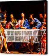 Jesus The Last Supper Canvas Print by Pamela Johnson