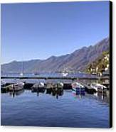 jetty in Ascona Canvas Print