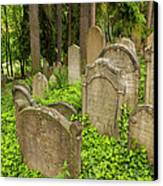 Jewish Town Tombs In The Jewish Cemetery Canvas Print
