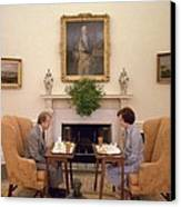Jimmy Carter And Rosalynn Carter Having Canvas Print by Everett