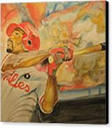 Jimmy Rollins Canvas Print by Keith Hancock