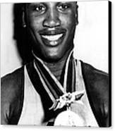 Joe Frazier Holding Olympic Heavyweight Canvas Print by Everett