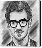 Joe Jonas Drawing Canvas Print