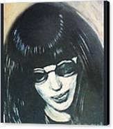 Joey Ramone The Ramones Portrait Canvas Print by Kristi L Randall