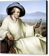 Johann Von Goethe, German Author Canvas Print by Smetek