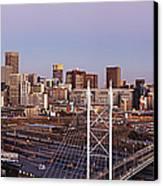 Johannesburg Skyline And Railway Station Canvas Print by Jeremy Woodhouse