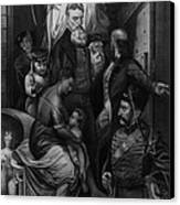 John Brown Meeting Slave Mother Canvas Print by Photo Researchers