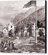 John Browns Harpers Ferry Insurrection Canvas Print by Everett
