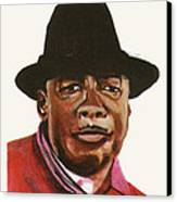 John Lee Hooker Canvas Print by Emmanuel Baliyanga
