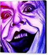 Joker Neon Canvas Print by Michael Mestas