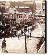 Jollification. Parade Celebrating Canvas Print by Everett