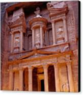 Jordan, Petra, The Treasury Canvas Print by Nevada Wier