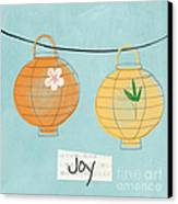 Joy Lanterns Canvas Print by Linda Woods