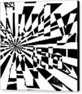 July 4th Maze Canvas Print by Yonatan Frimer Maze Artist