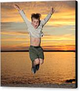 Jumping For Joy Canvas Print by Ted Kinsman