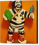 Kachina Clown  Canvas Print by Russell Ellingsworth