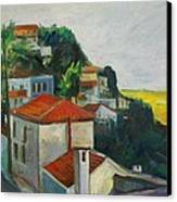 Kea-tzia.afternoon In Chora Canvas Print by George Siaba