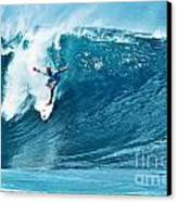 Kelly Slater At Pipeline Masters Contest Canvas Print