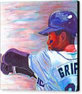 Ken Griffey Jr Canvas Print by Jeff Gomez