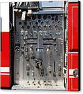 Kensington Fire District Fire Engine Control Panel . 7d15856 Canvas Print by Wingsdomain Art and Photography