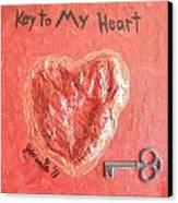 Key To My Heart Canvas Print by Jeannie Atwater Jordan Allen