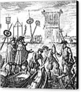 Killing Of Anabaptists Canvas Print by Granger