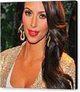 Kim Kardashian At Arrivals For Qvc Red Canvas Print by Everett