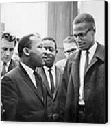 King And Malcolm X, 1964 Canvas Print