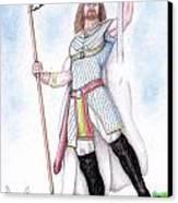 King Arthur Canvas Print by Fabio Lion